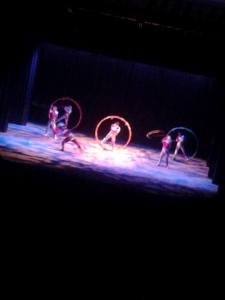 Cirque Ziva (photo taken by my sister)