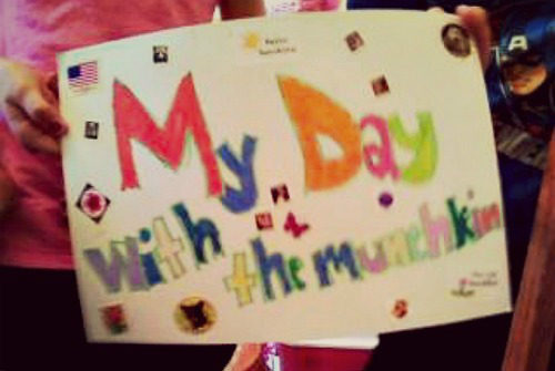 "If you look closely, you can see I ran out of room and couldn't put the ""s"" at the end of ""munchkins"" lol"
