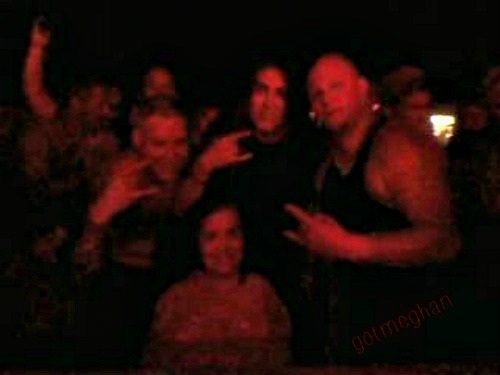 The ONE Metallica Tribute band got a picture with me after their concert Friday night. Sadly, the lighting was bad but I tried to edit it up and this is as good as it got but that's okay with me!