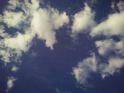 I was in love with clouds that day.